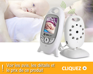 babyphone sunluxy 2 lcd couleur moniteur vid o. Black Bedroom Furniture Sets. Home Design Ideas