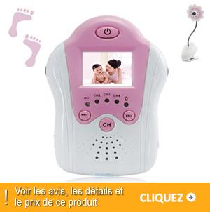 écoute bébé video design fleur