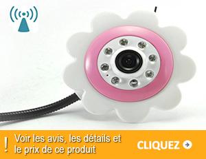 Babyphone video design fleur